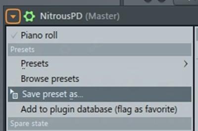 FL Studio Save Presets