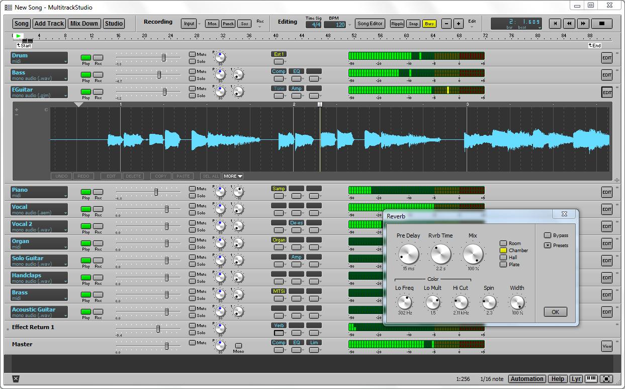 multi track studio